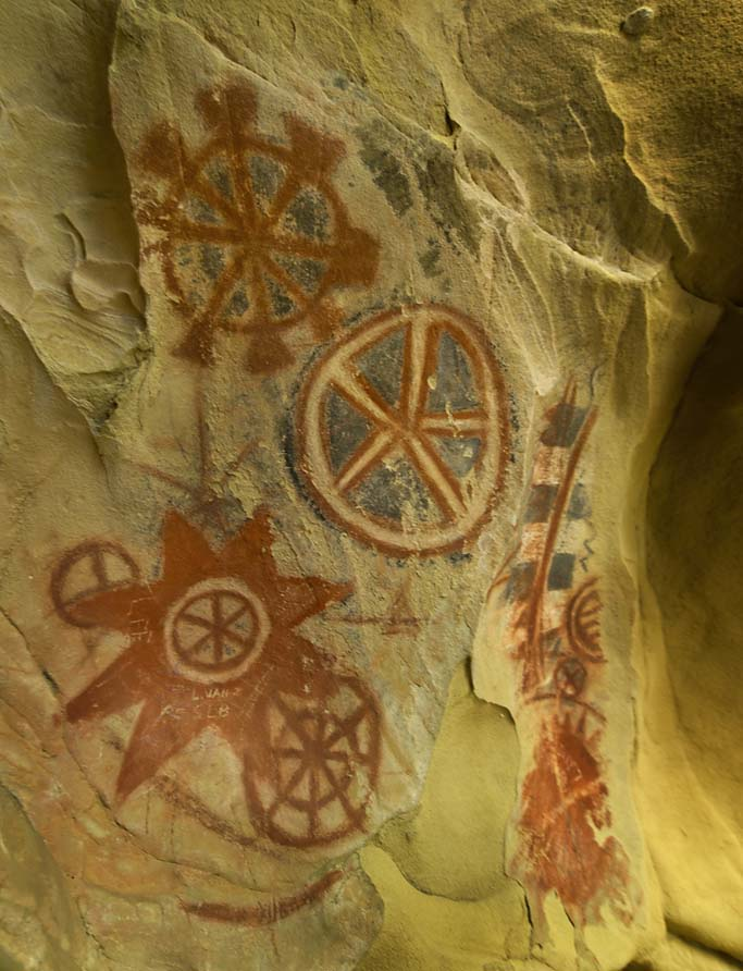 Cave Paintings Of The Chumash People